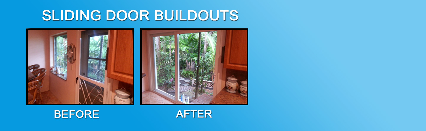 Sliding Glass Door Build out with Impact Glass